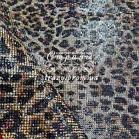 Стразовое термополотно, колір Leopard (ss6) відрізок 24*40см