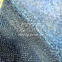 Стразовое термополотно, цвет Lt.Sapphire (ss6) отрезок 24*40см