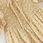 Летнее платье из шифона в цветочный принт с резинкой на талии (р. 42-44) 68032762, фото 3