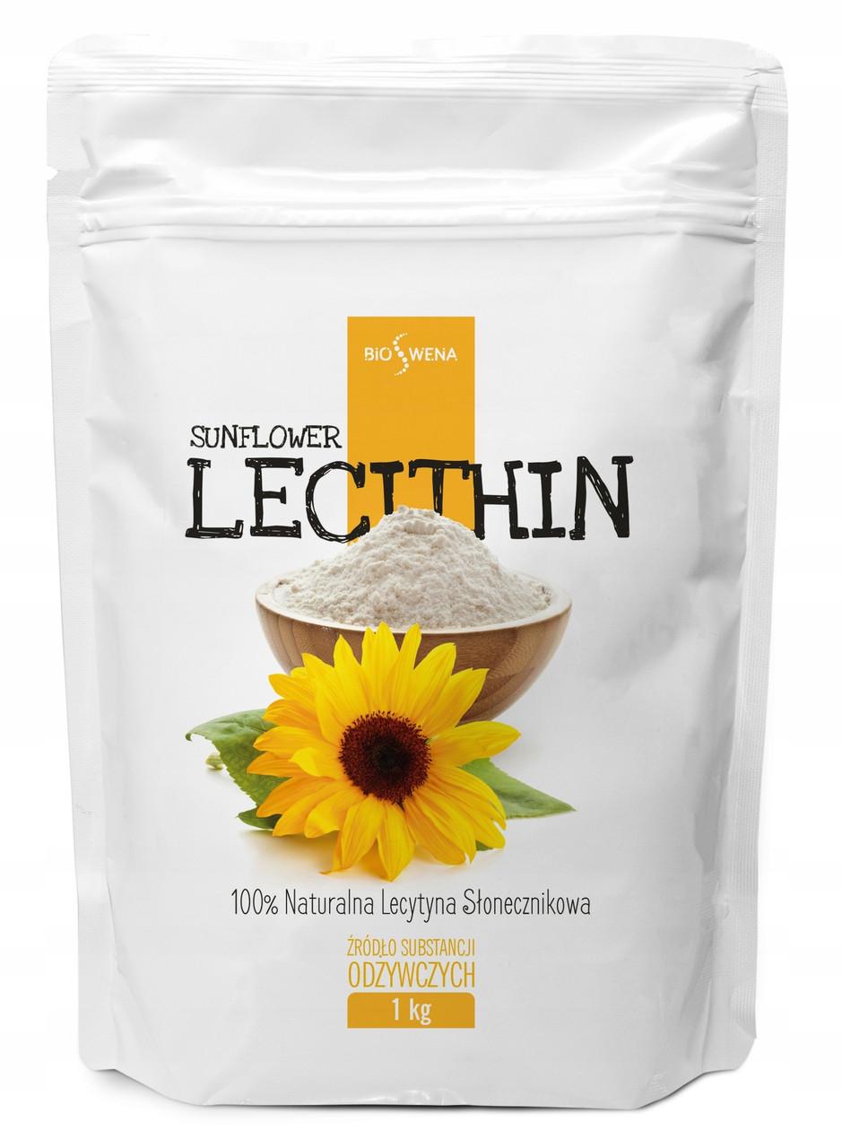 Соняшниковий лецитин (порошок чистий), лецитин з соняшнику Е322, 1 кг - BIOSWENA