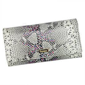 Женский кожаный кошелек SN-100 RFID Светло-серый