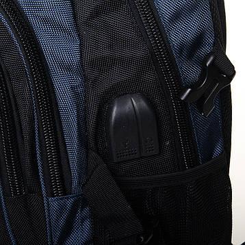 Рюкзак Городской нейлон Power In Eavas 7873 черно-синий, фото 2