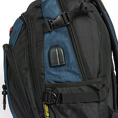 Рюкзак Городской нейлон Power In Eavas 9618 черно-синий, фото 2