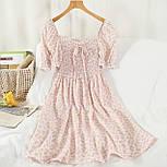 Летнее платье из шифона в цветочный принт с резинкой на талии (р. 42-44) 68032762, фото 5