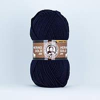 Madame Tricote Merino Gold 200 № 019 чернильно-синий, фото 1