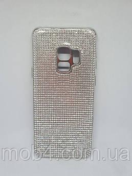 Силиконовый чехол накладка Камни Стразы для Samsung Galaxy S9