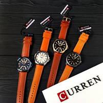 Годинники чоловічі наручні кварцові оригінальні Curren 8379 Blue-Brown класичні з шкіряним PU ремінцем, фото 8