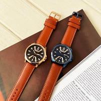 Годинники чоловічі наручні кварцові оригінальні Curren 8379 Blue-Brown класичні з шкіряним PU ремінцем, фото 9