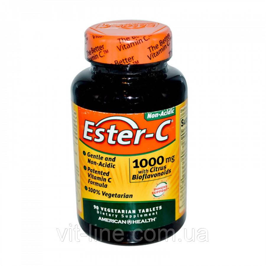 American Health, Ester-C з цитрусовими біофлавоноїдами, 1000 мг, 90 капсул