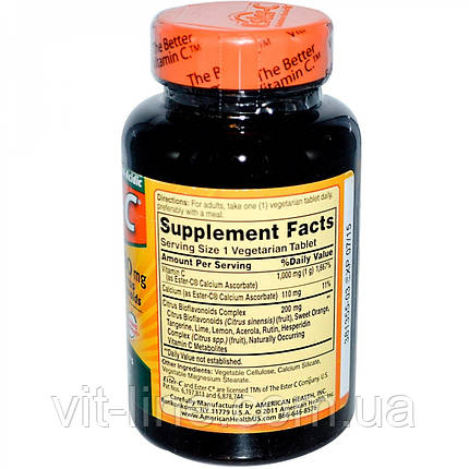 American Health, Ester-C з цитрусовими біофлавоноїдами, 1000 мг, 90 капсул, фото 2