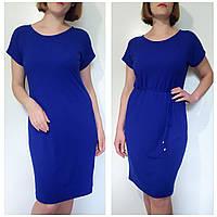 Женское летнее платье 52 большого размера трикотажное (50,52,54,56,58,60,62,64,66)
