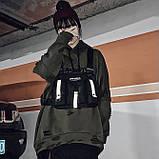 Бронежилет тактический черный OFFICIAL нагрудная сумка черная, фото 2