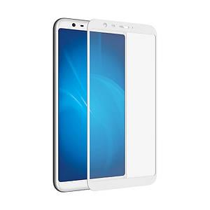 Захисне скло для Meizu M8 Lite на весь екран 5д скло на телефон мейзу м8 лайт біле NFD