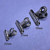 Набор прищепок металлических для наращивания ногтей для создания арки (22мм, 31мм, 38 мм)