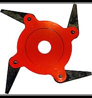 Нож сегментный 4 лезвий для мотокосы