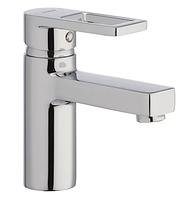 Смеситель на раковину в ванную Haiba GUDINI 001 латунный литой кран для умывальника однорычажный на шпильке