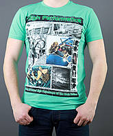 Бирюзовая молодежная футболка
