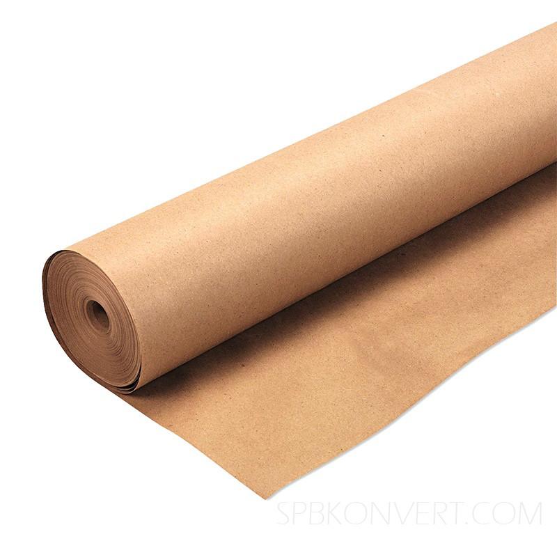 Крафт папір для пакування і творчості коричнева в рулоні 0.7 х 50 метрів. 70г/м2.