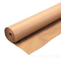 Крафт папір для пакування і творчості коричнева в рулоні 0.7 х 50 метрів. 70г/м2., фото 1