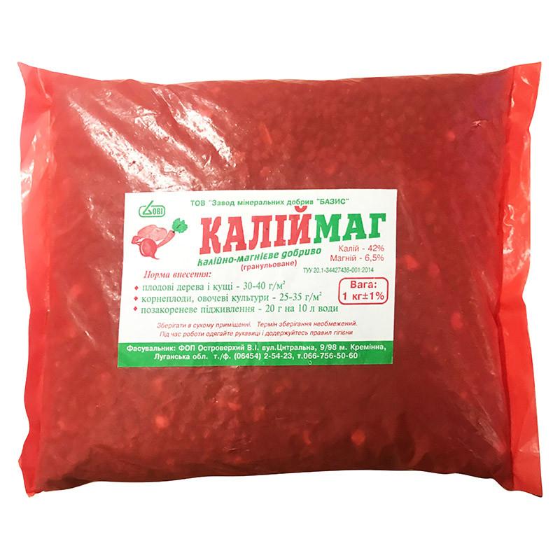 """Калійно-магнієве добриво (1 кг) для овочів, плодово-ягідних культур, від """"Базис"""", Україна"""