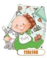 Детский пододеяльник 110х140