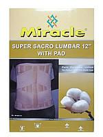 Бандаж для спини з 6-ма ребрами жорсткості для підтримки спини високий Miracle код SSL-WP0011-12 L XXXL