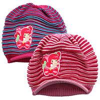 Шапка -кепка детская вязка на флисе Strawberry (м/ф Шарлотта Земляничка) / размер  54 см / Польша