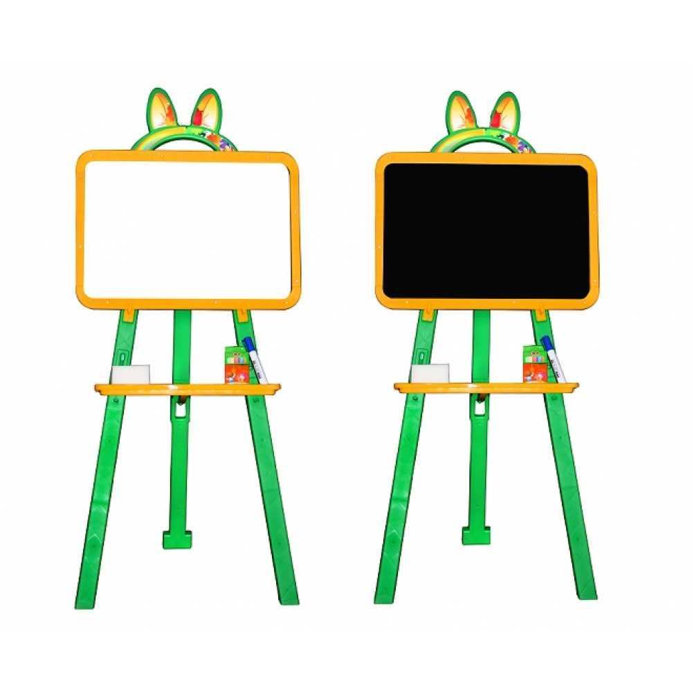 Дошка магнітна двостороння для малювання жовта - зелена 013777/2