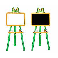 Дошка магнітна двостороння для малювання жовта - зелена 013777/2, фото 1
