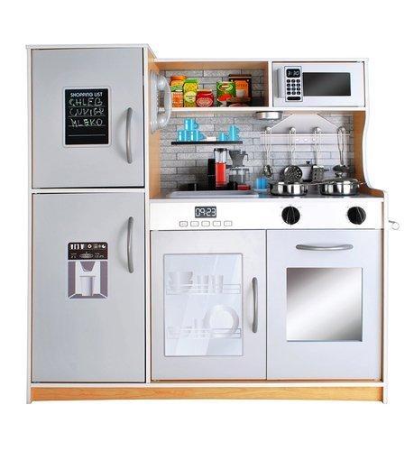 Кухня дитяча дерев'яна з посудом KRUZZEL велика 80 × 80,5 см KD 9151