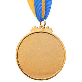 Спортивна медаль з стрічкою d=6,5 см C-6863, 1 місце (золото) OF, фото 2