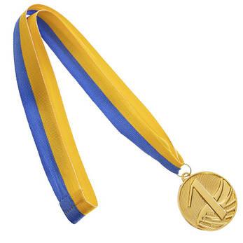 Медаль спортивная с лентой d=5 см C-4868 , 1 место (золото) OF, фото 2