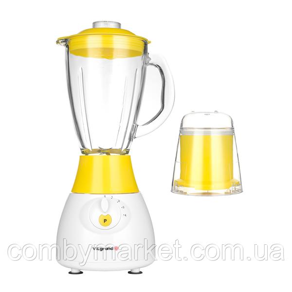 Блендер стаціонарний+кавомолка (скляна чаша на 1,5 л; 500 Вт) ViLgrand VBS5152G_yellow