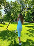Облегающее платье - майка миди из трикотажа рубчик под горло (р. S,M) 36032770, фото 5