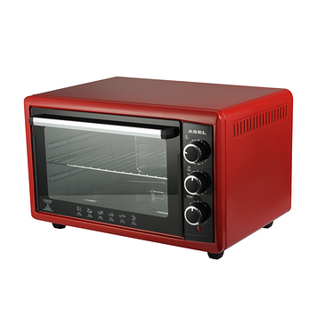 Духовка настольная электрическая Asel AF50-23 красная