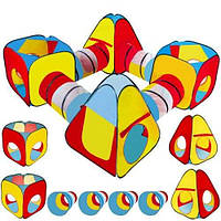 Дитяча ігрова палатка тунель 8 в 1 10952 намет для дітей (ігровий будиночок-намет для дому), фото 1