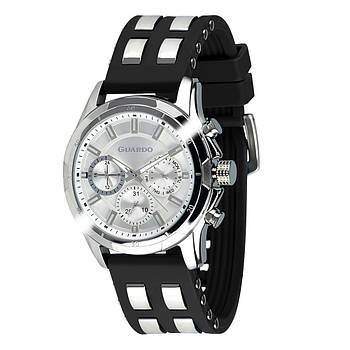 Часы мужские наручные кварцевые оригинальные Guardo B01113-2 стильные с силиконовым ремешком