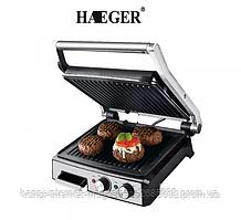 Гриль прижимной с таймером Haeger HG-2681 2800W, электрический гриль пресс