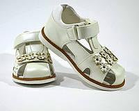 Босоніжки для дівчинки ТОМУ.М , з закритим носком молочно-білий арт.1968-A розмір 29, фото 1