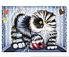 """Схема для вишивки бісером c кішкою """"Кіт і миша"""""""