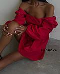 Женское платье, коттон, р-р 42-44; 44-46 (красный), фото 2