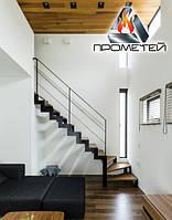 Г-образная металлическая лестница на ломаном косоуре - просчет стоимости, изготовление и монтаж, фото 1