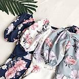 Летний комбинезон в цветочный принт с верхом на запах и короткими рукавами (р. S-М) 68101984, фото 7