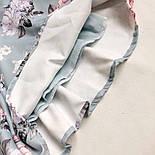 Літній комбінезон в квітковий принт з верхом на запах і короткими рукавами (р. S-М) 68101984, фото 3
