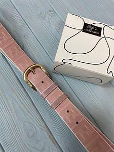 Розовый женский кожаный ремень Фенди реплика