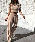 Женский костюм, турецкий рубчик, р-р 42-44; 44-46 (беж), фото 3