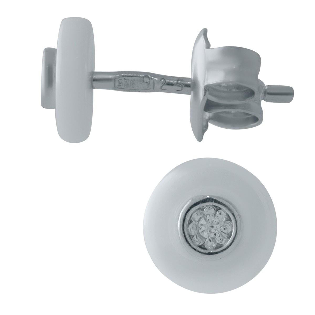 Срібні сережки MioDio з керамікою (1154625)