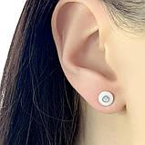 Срібні сережки MioDio з керамікою (1154625), фото 3