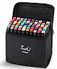 Набір маркерів для скетчинга 60шт. Двосторонні маркери на спиртовій основі. Скетч-маркери, фото 2