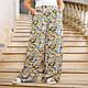 Летние женские штаны свободного кроя с цветочным принтом, фото 5